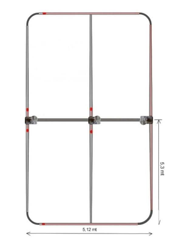 Yagi UB50 6-40 mt.